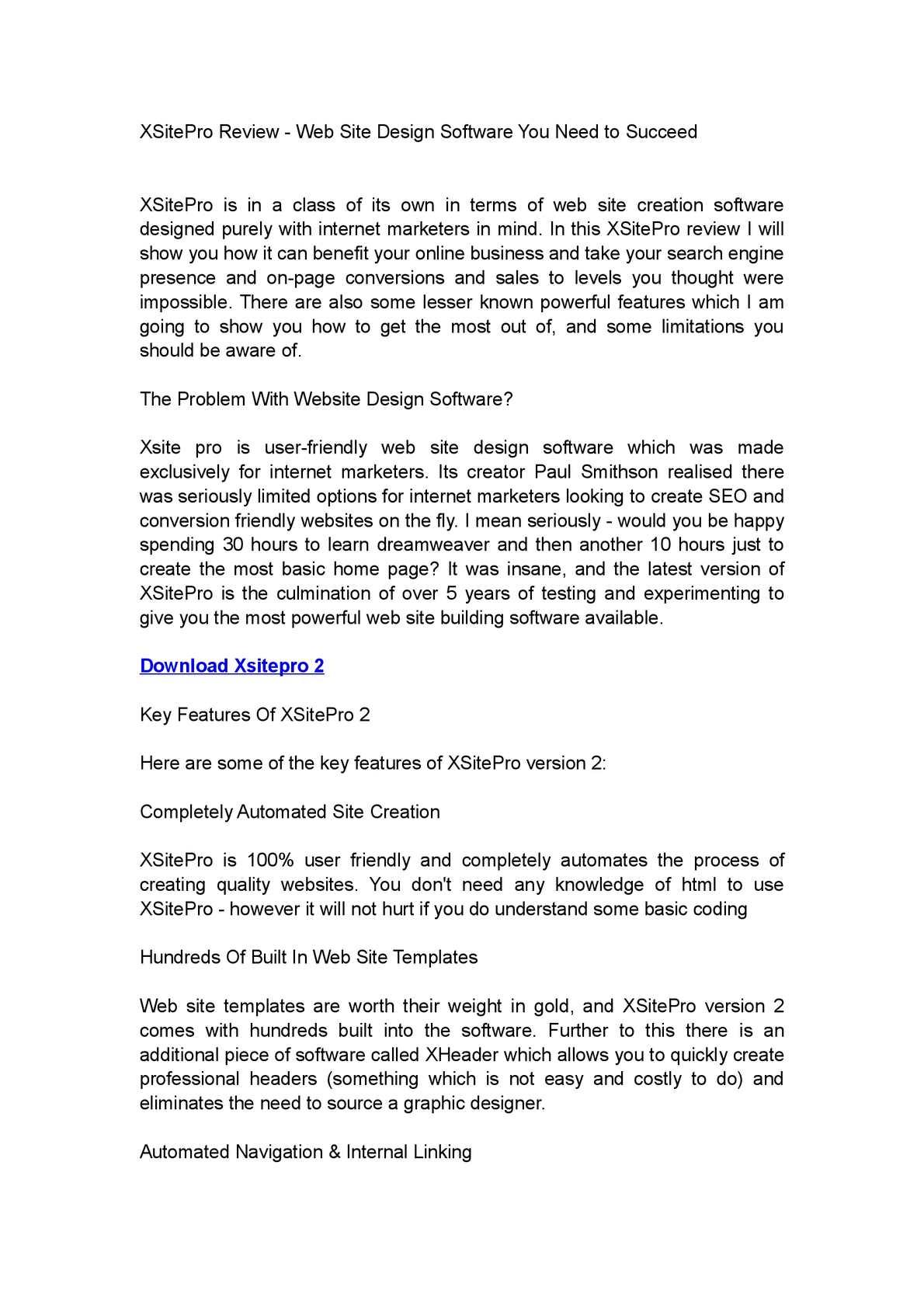 Calaméo xsitepro review best web site design software.