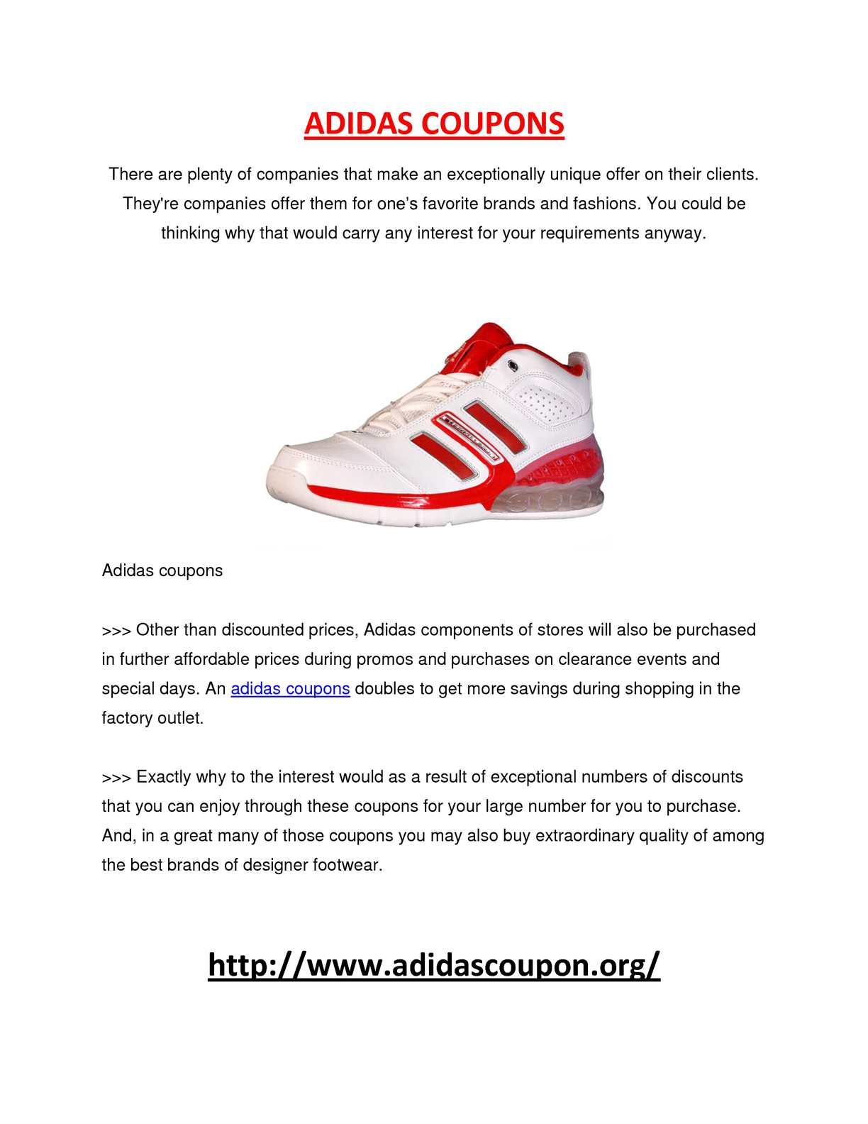 Elements Of adidas coupons
