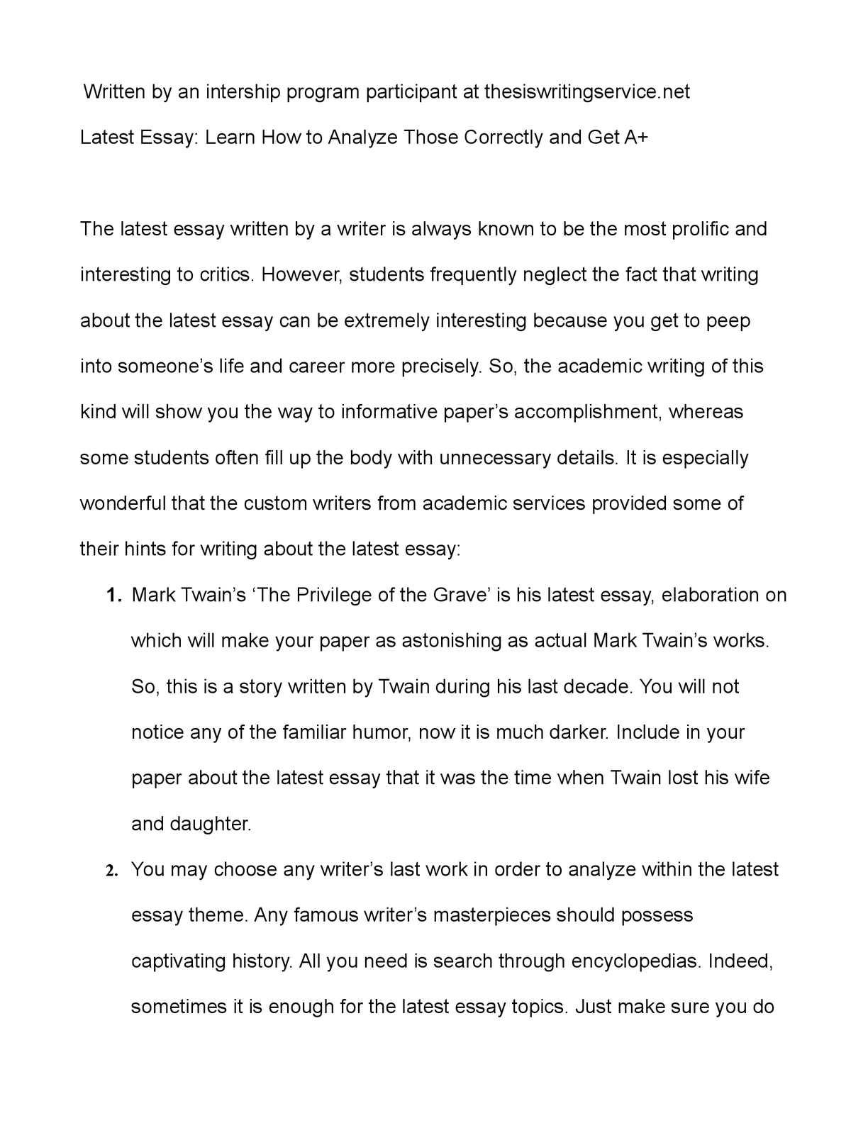 what is man twain essay