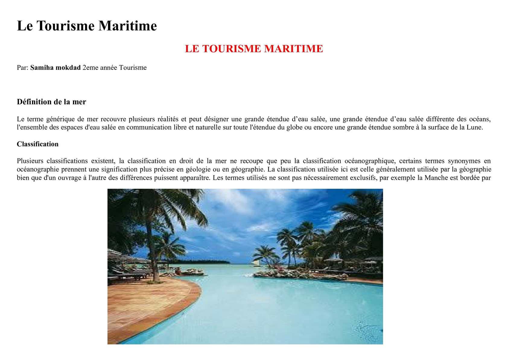 Calameo Le Tourismemaritime