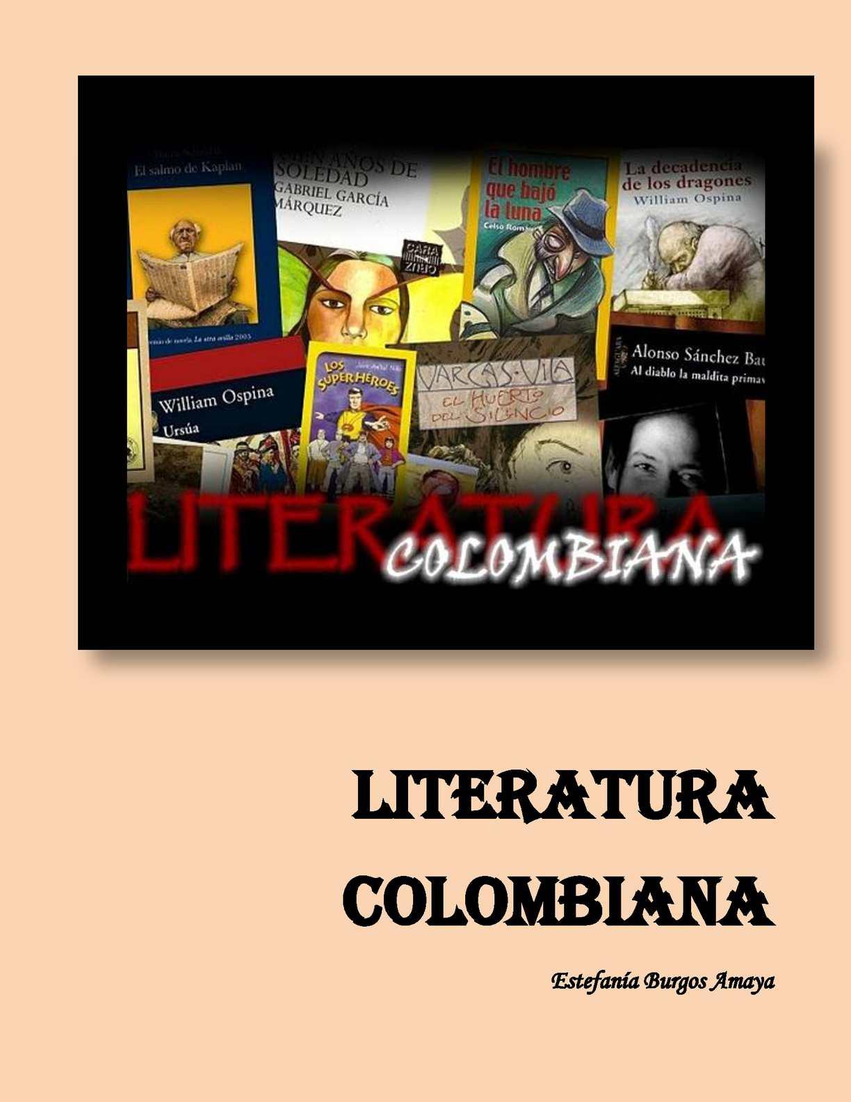 LITERATURA COLOMBIANA
