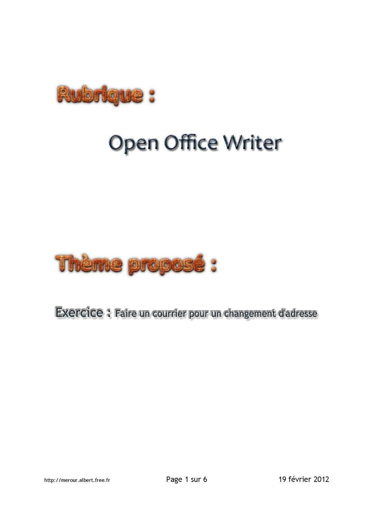 Calaméo Iew 01 Exercice Envoyer Une Lettre Pour Un