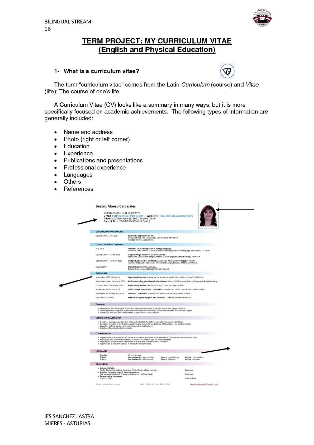 Calameo Pe Cv Student S Worksheets