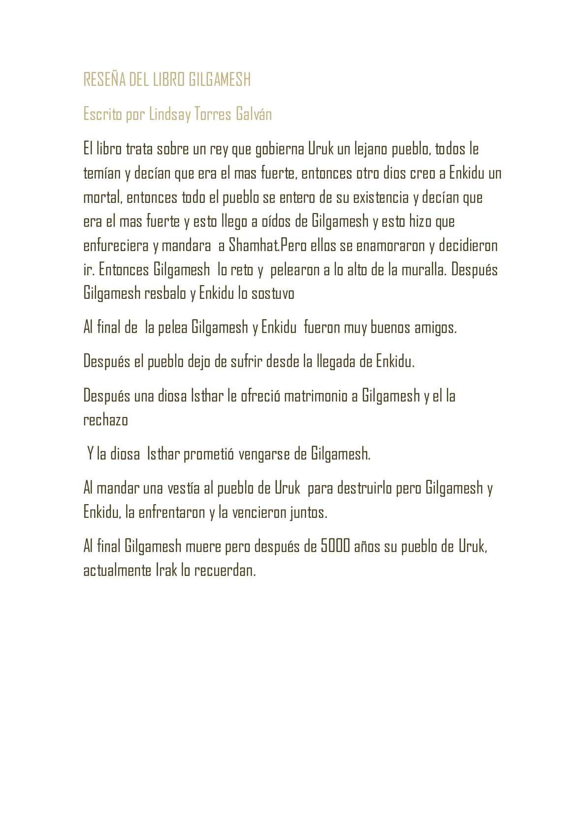 Calaméo - RESEÑA DEL LIBRO GILGAMESH