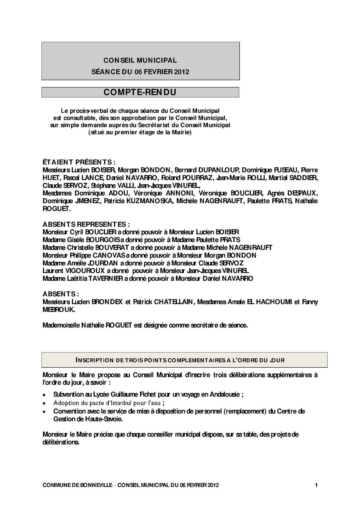 559a7e1b7b7 Calaméo - Compte-rendu du conseil municipal du 6 février 2012