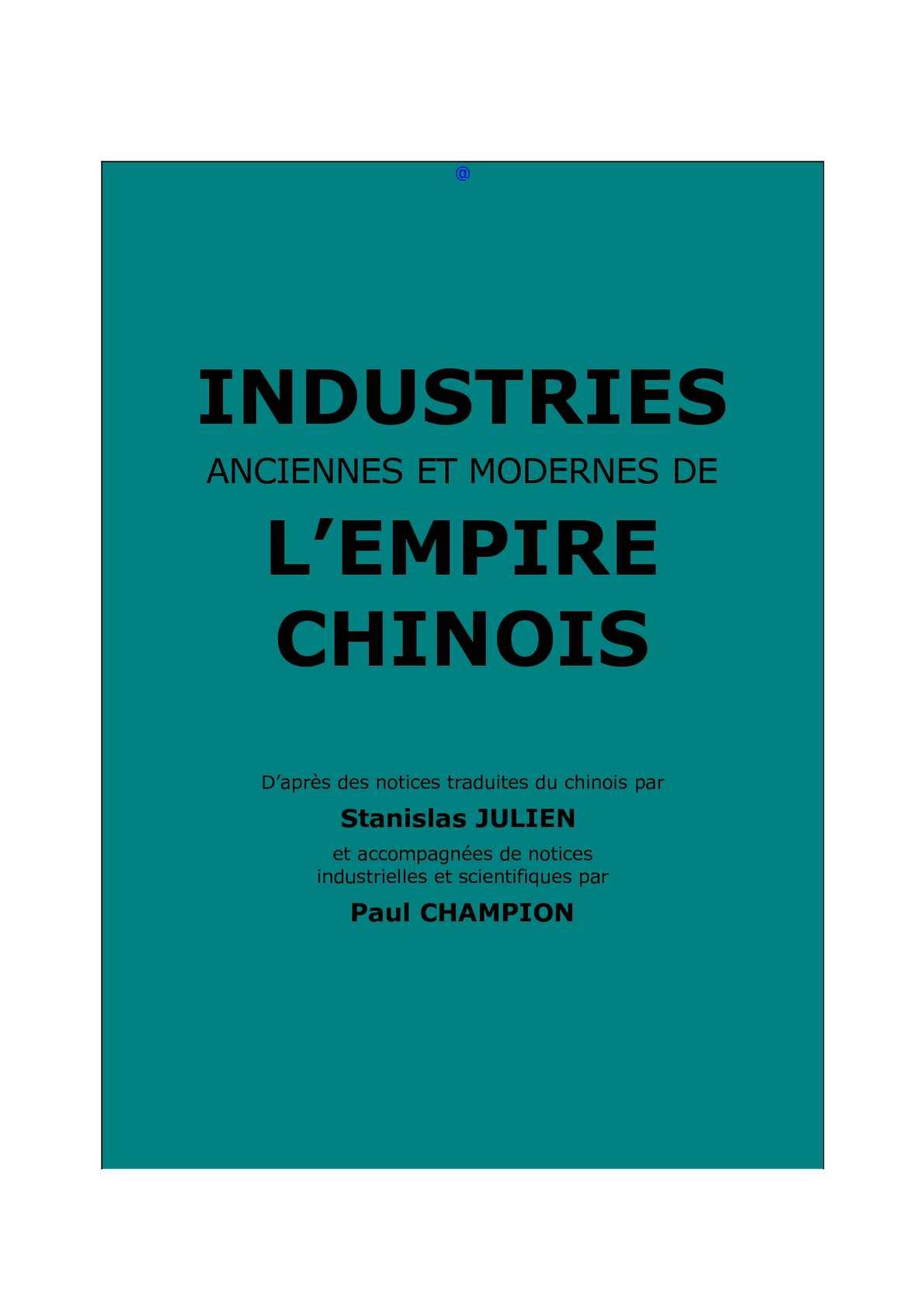 b8517002c348 Calaméo - Julien, St. et Champion P.   Industries anciennes et modernes de  l empire chinois