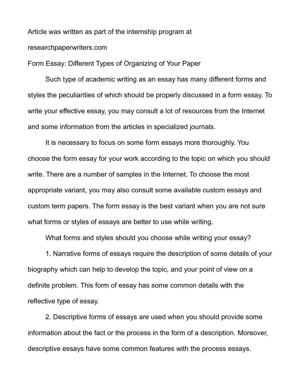 Personal Narrative Essay Examples High School  Thesis For Argumentative Essay Examples also Www Oppapers Com Essays Calamo  Form Essay Different Types Of Organizing Of Your  Poverty Essay Thesis