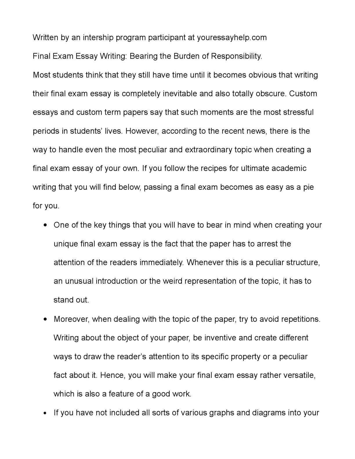human responsibility essay