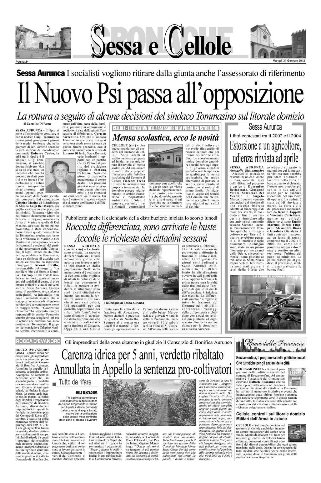 Smaltimento Rifiuti Sessa Aurunca calaméo - giornali genn aio 2012