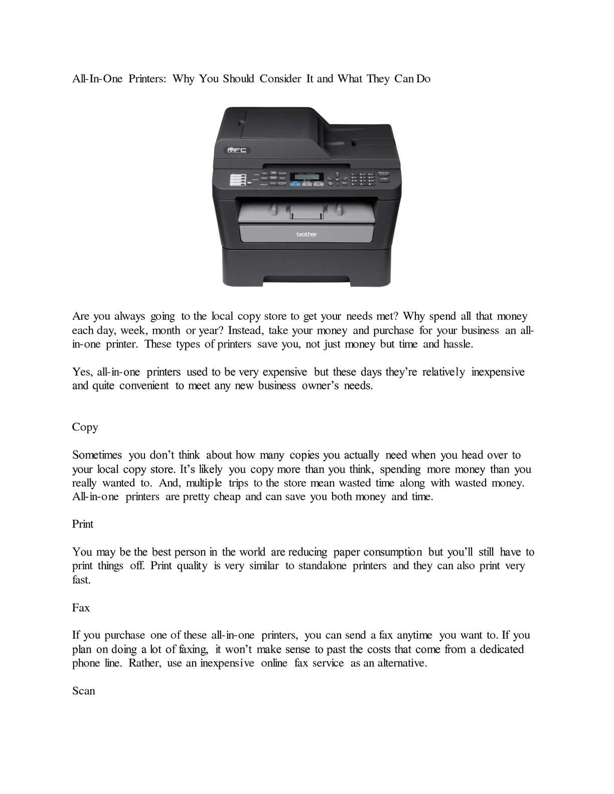 Calaméo - All-In-One Printers: Why You Should Consider It and What