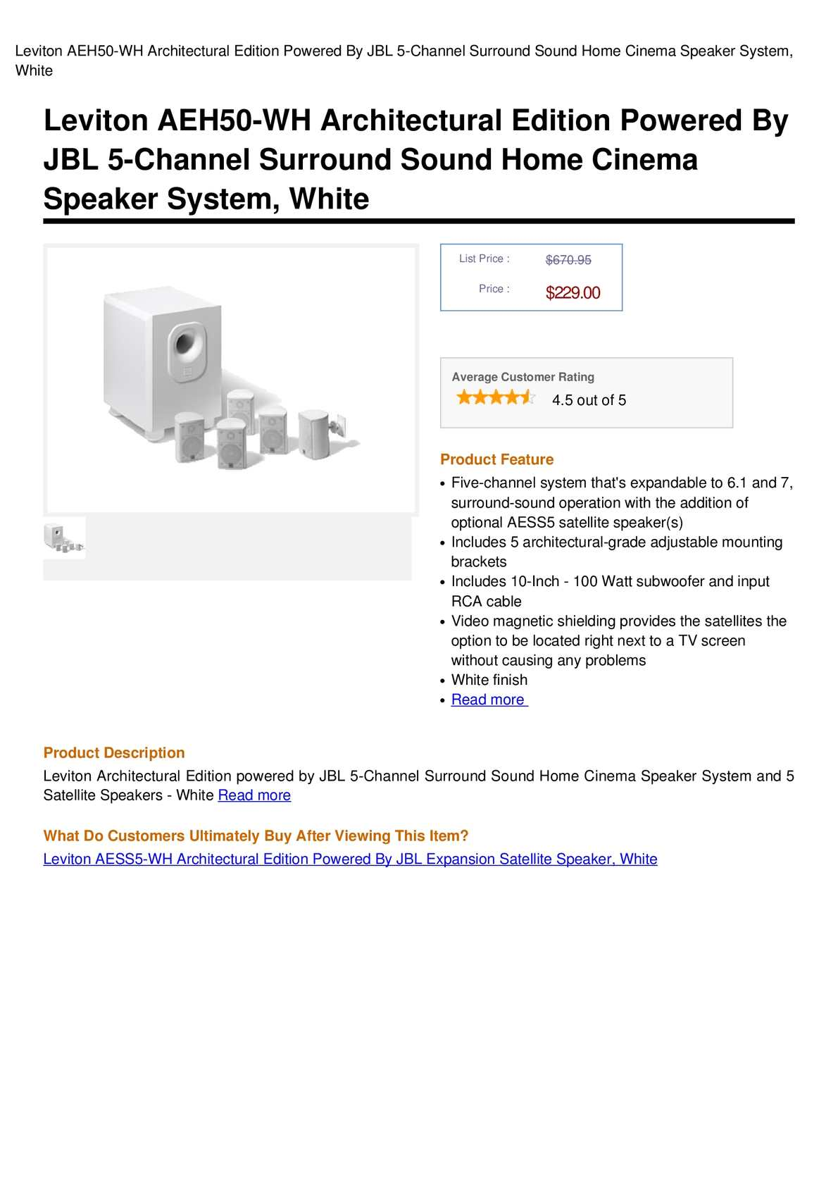 Calaméo leviton aeh50-wh architectural edition powered by jbl 5.