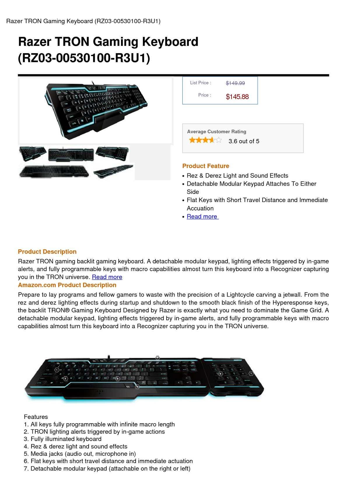 Calaméo - Razer TRON Gaming Keyboard