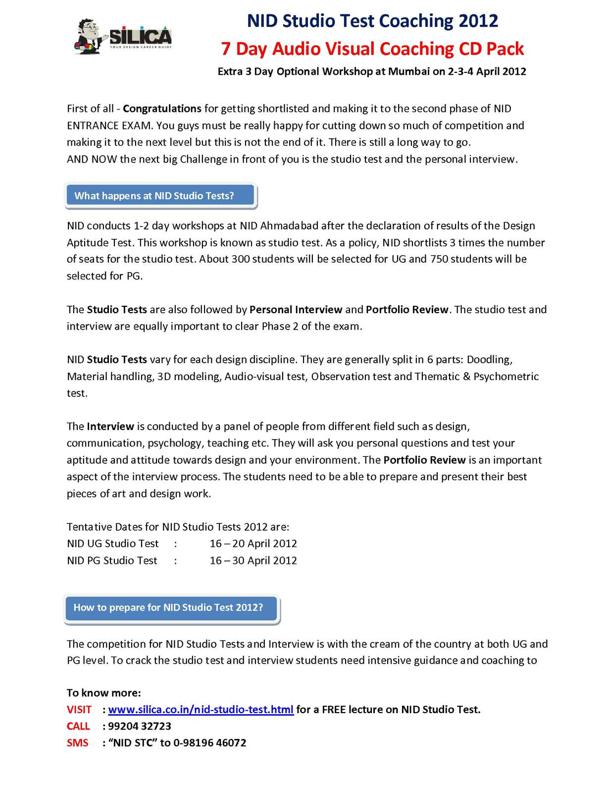 Calaméo - NID Studio Test Sample Papers|NID Studio