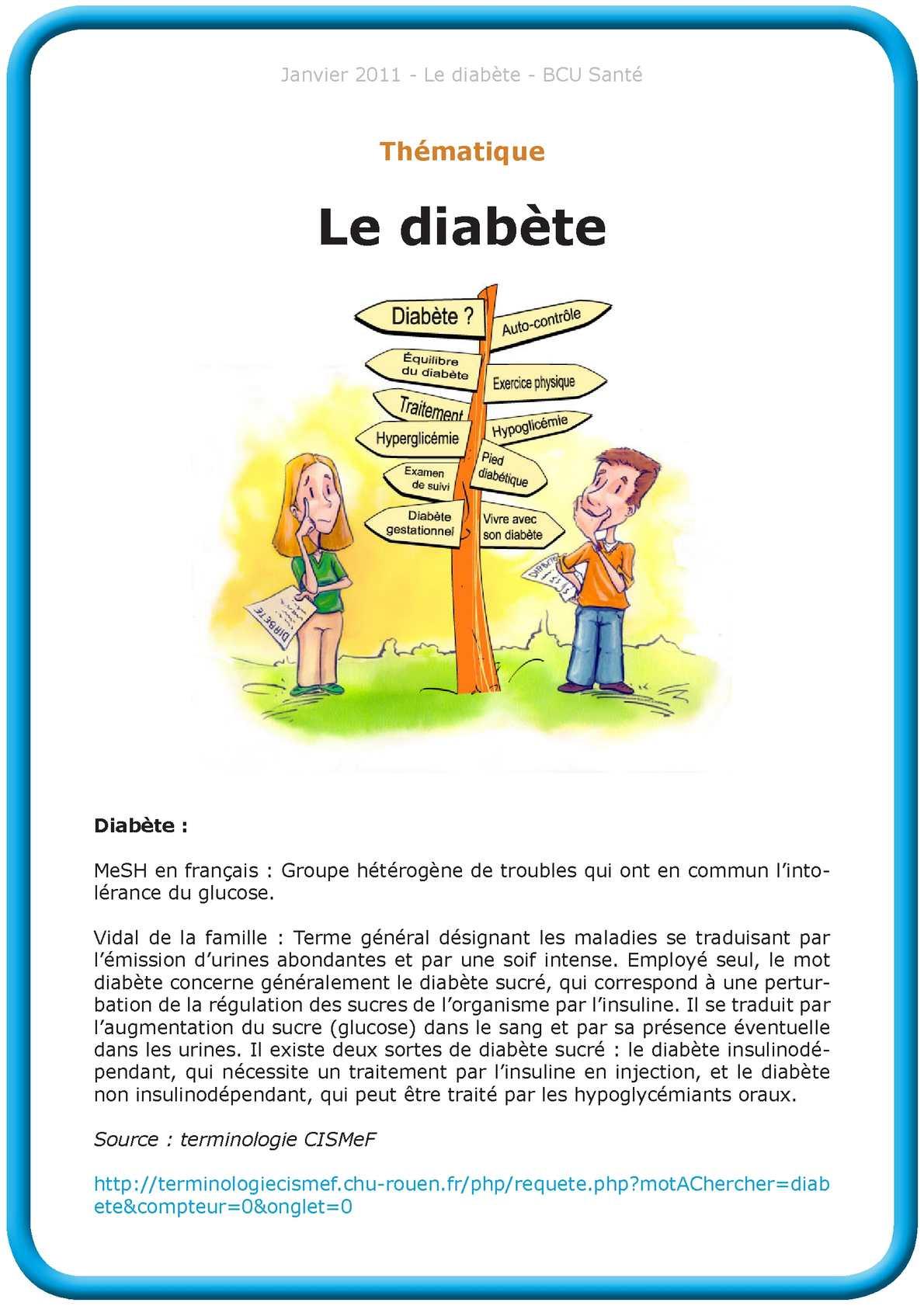 Calaméo - Le diabète