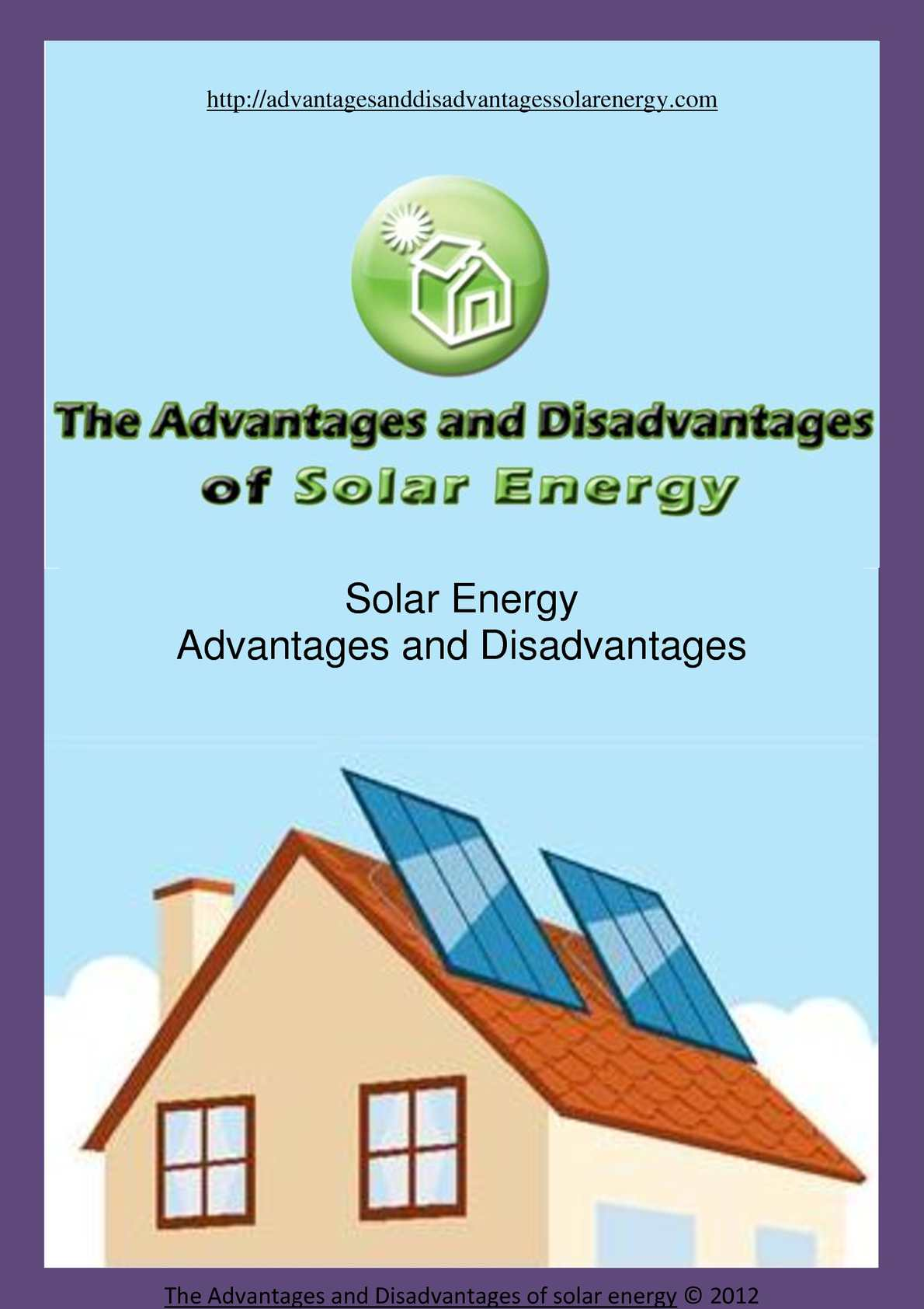 Calameo The Advantages And Disadvantages Of Solar Energy