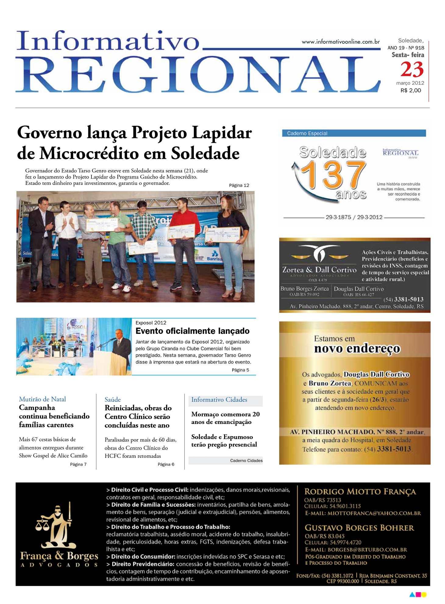 9a3fdc82ff991 Calaméo - Informativo Regional 918