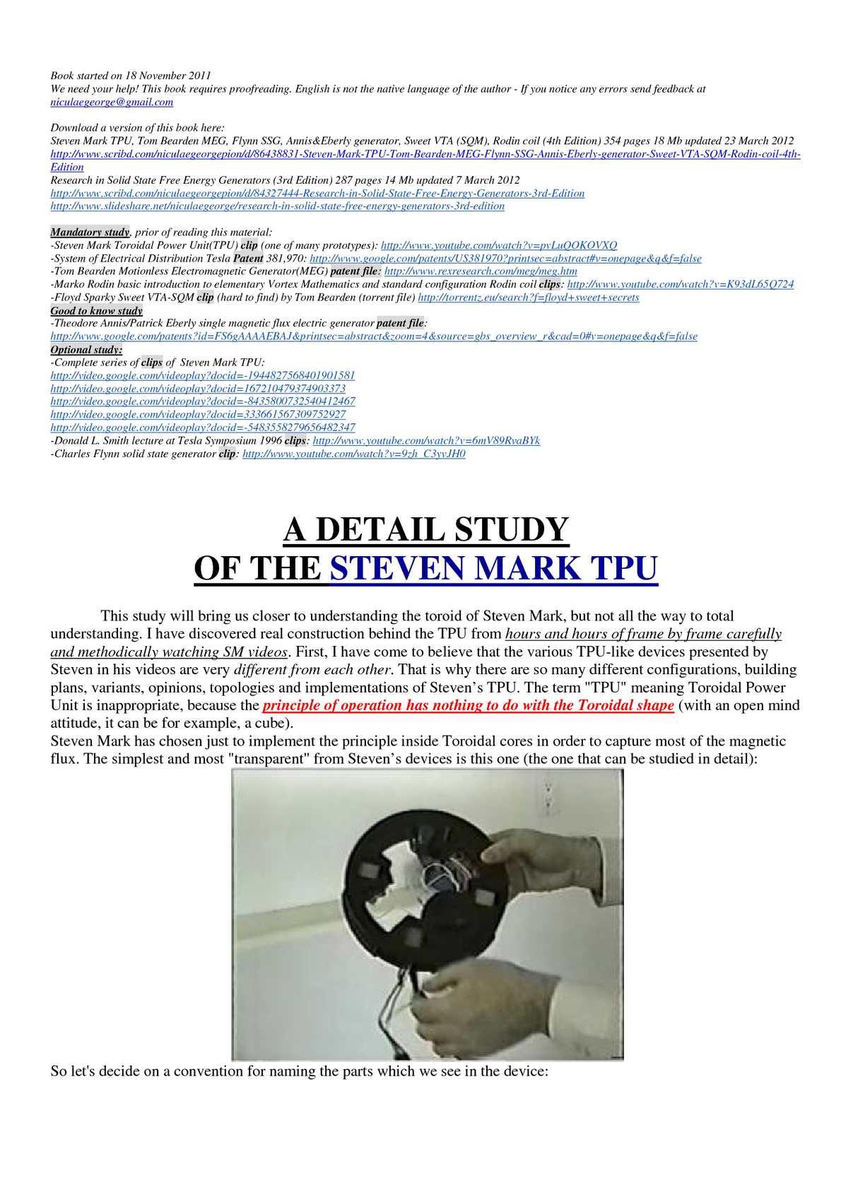 Calaméo - Steven Mark TPU, Tom Bearden MEG, Flynn SSG, Annis&Eberly  generator, Sweet VTA (SQM), Rodin coil (4th Edition)