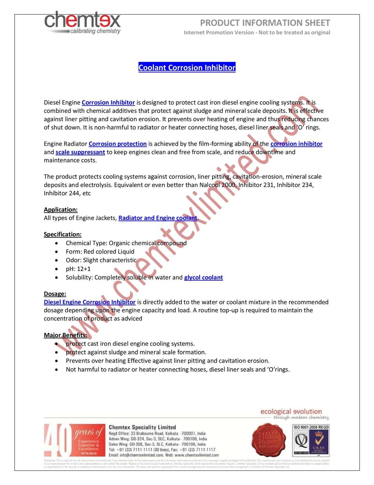 Calaméo - Coolant Corrosion Inhibitor