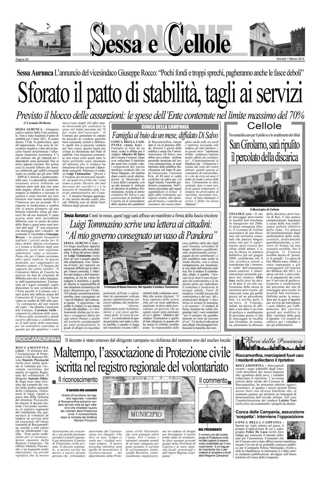 Smaltimento Rifiuti Sessa Aurunca calaméo - rassegna stampa marzo 2012