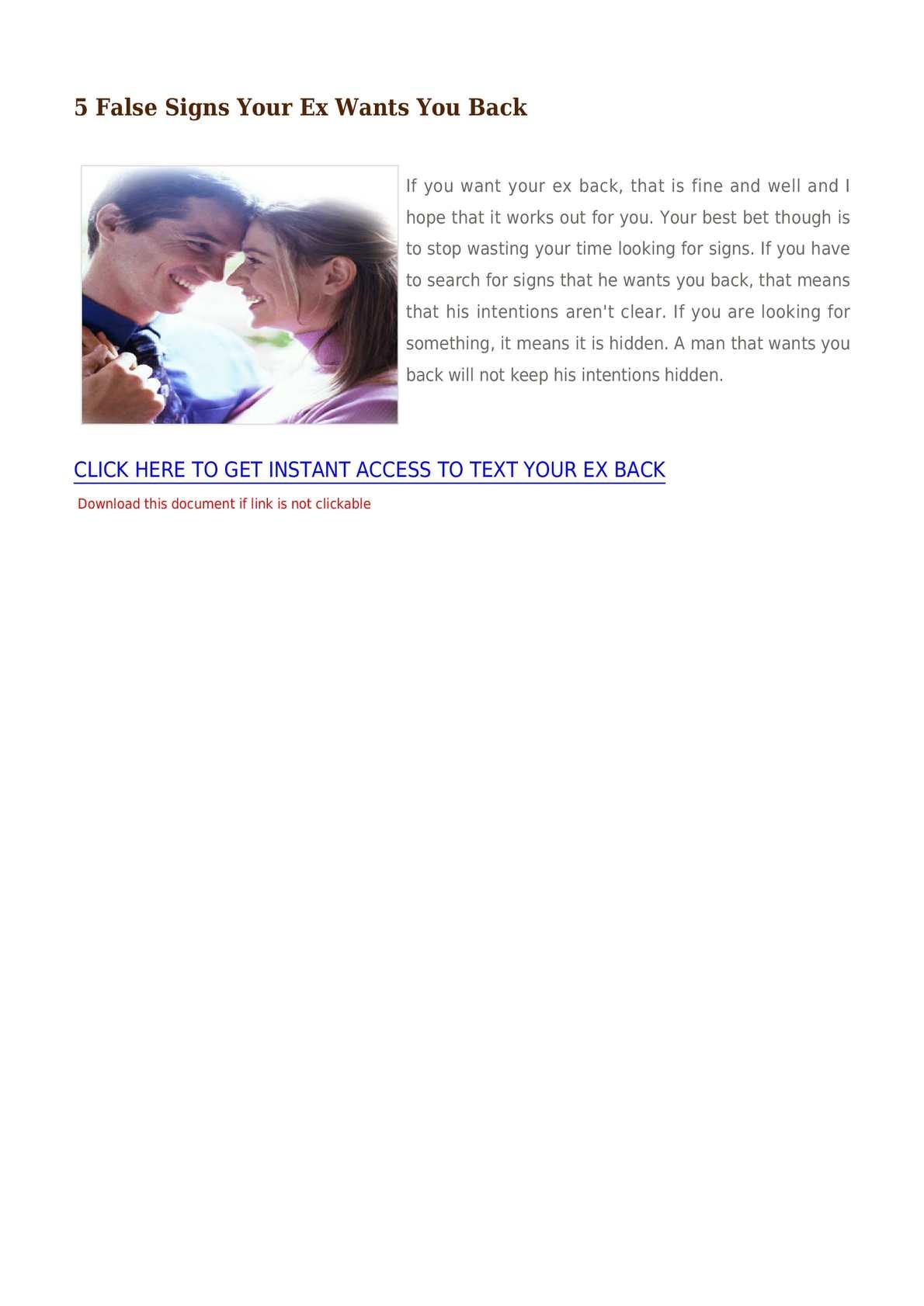 Calaméo - 5 False Signs Your Ex Wants You Back