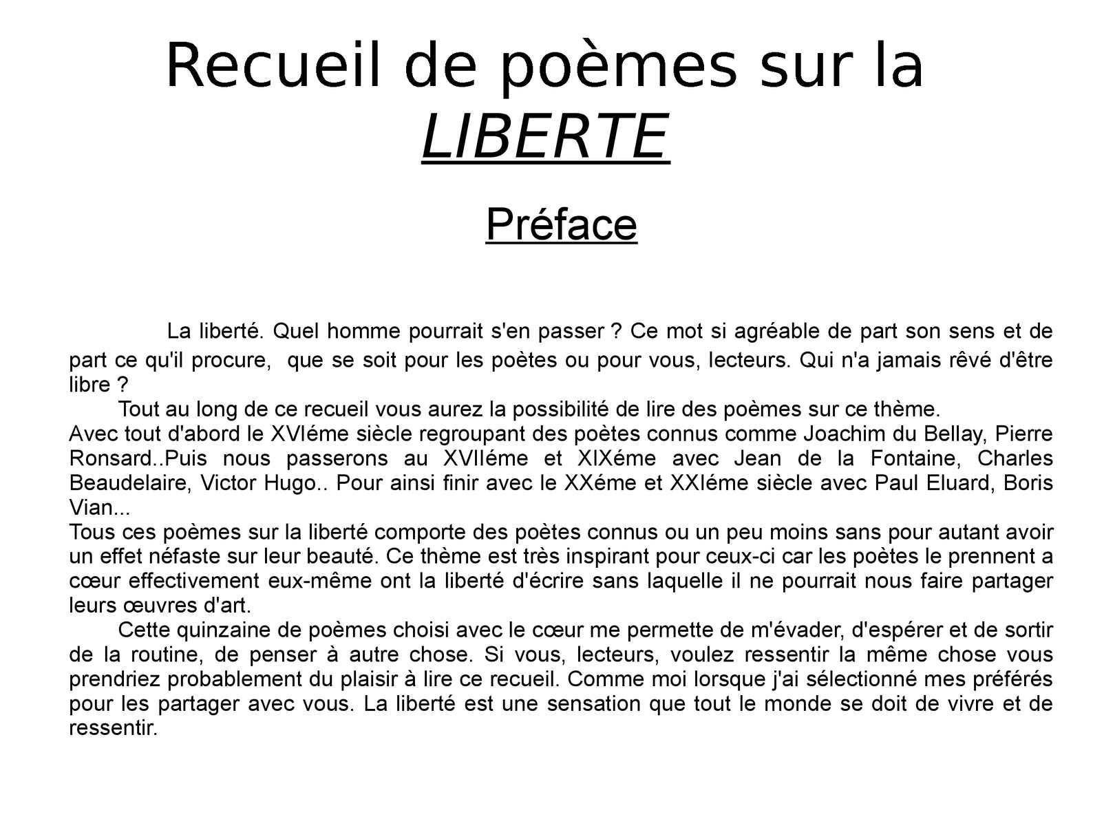 Calaméo Recueil De Poèmes Sur La Liberté