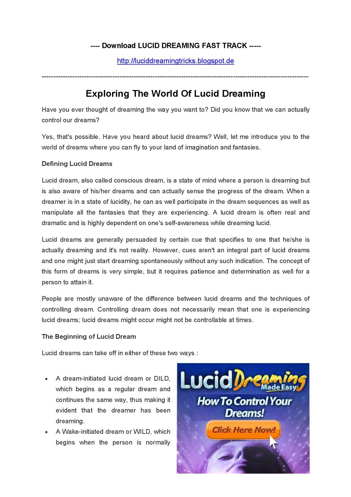 Calaméo - Exploring The World Of Lucid Dreaming