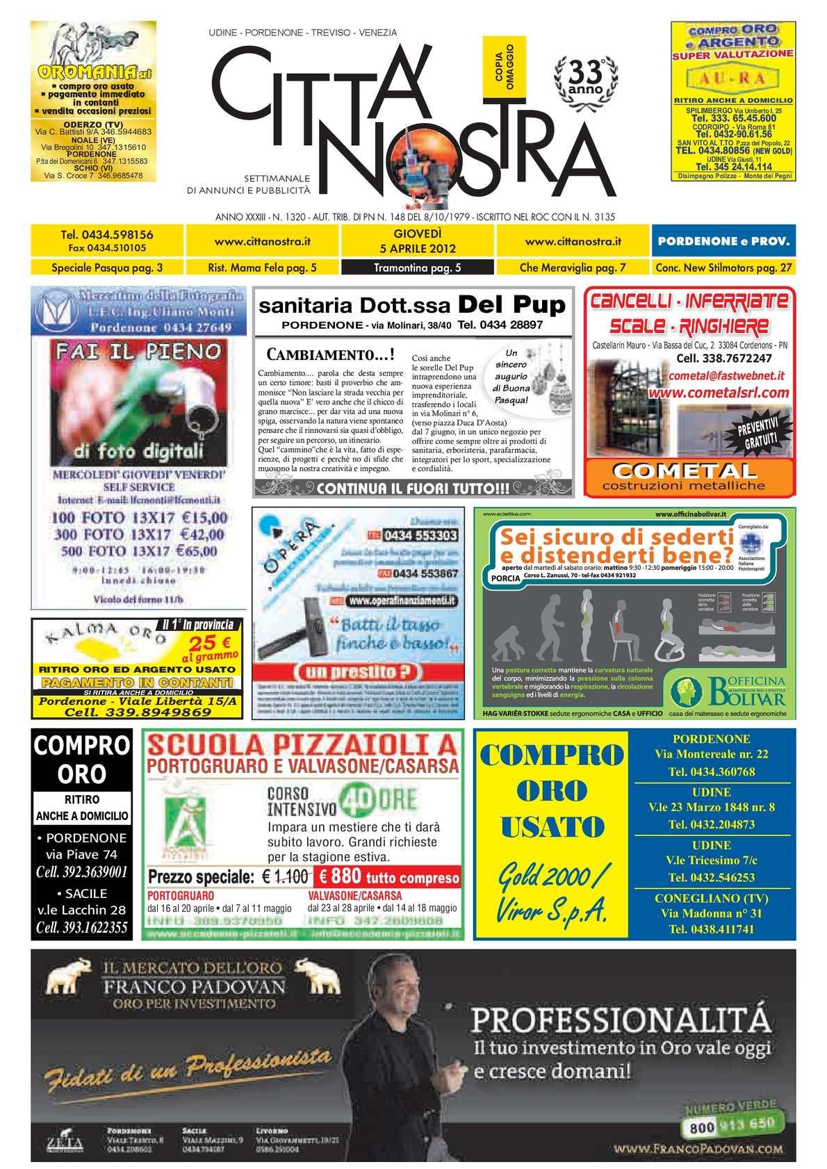 707b730591fb94 Calaméo - Città Nostra Pordenone del 05.04.2012 n. 1320