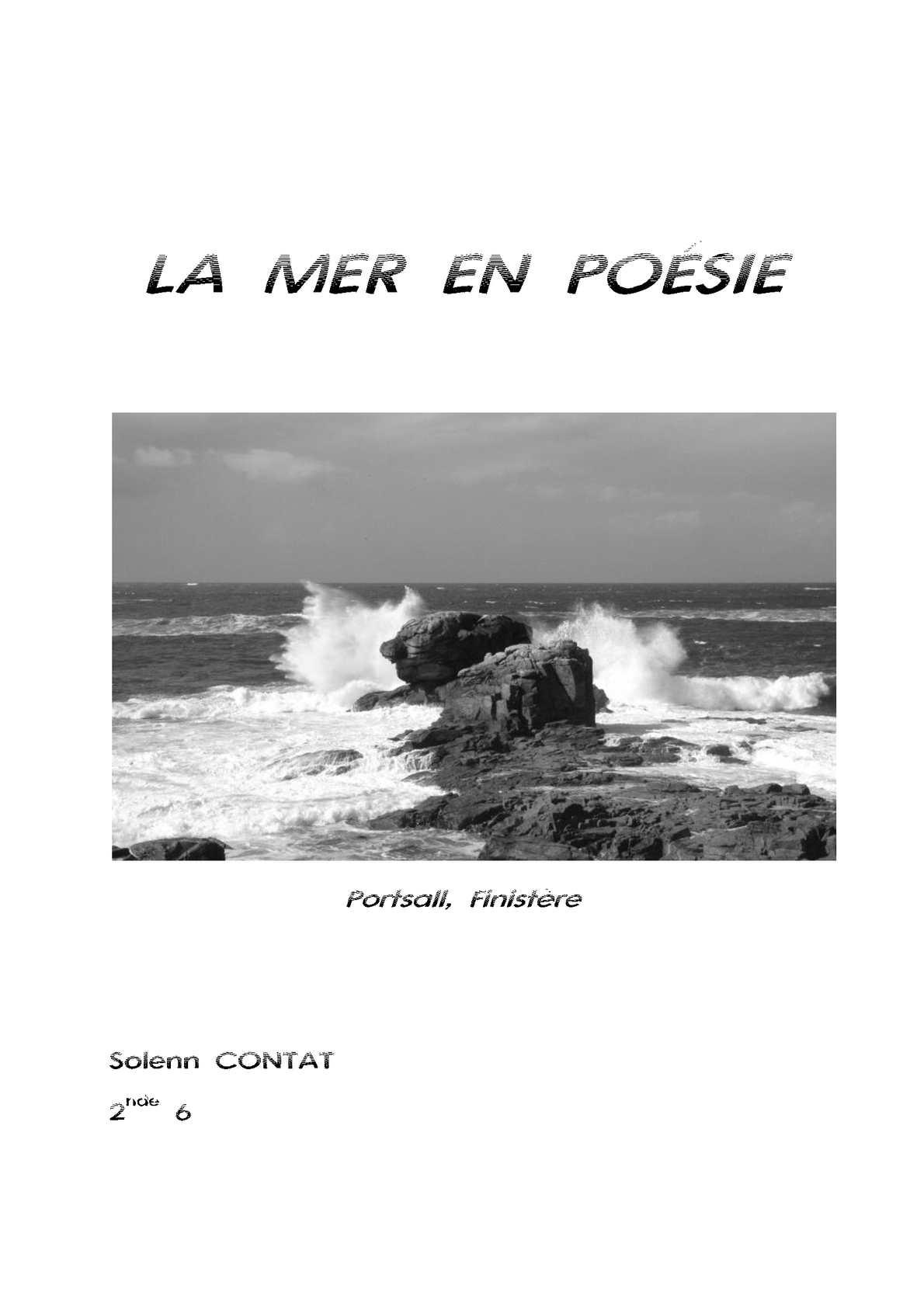 Calaméo La Mer En Poésie
