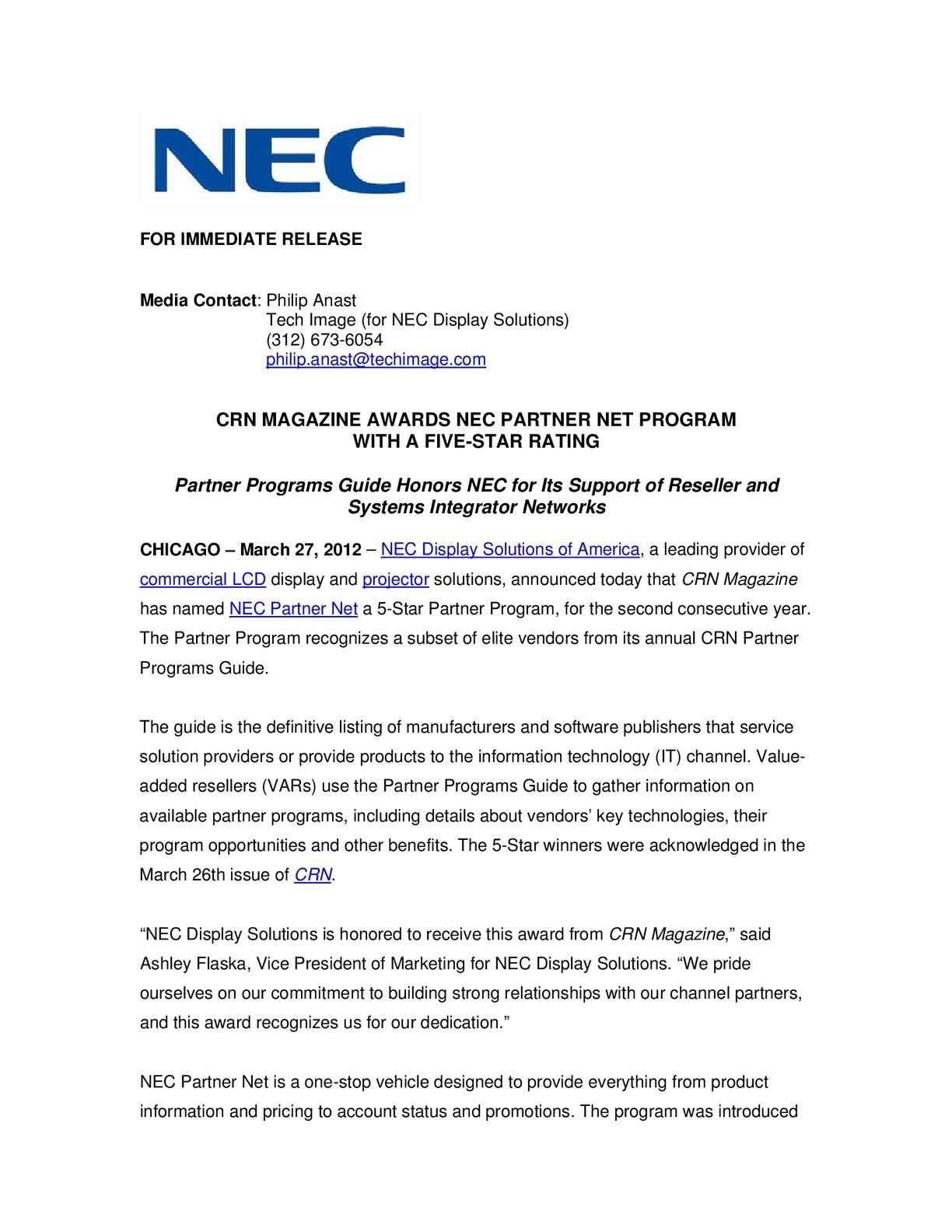 Calaméo - CRN MAGAZINE AWARDS NEC PARTNER NET PROGRAM