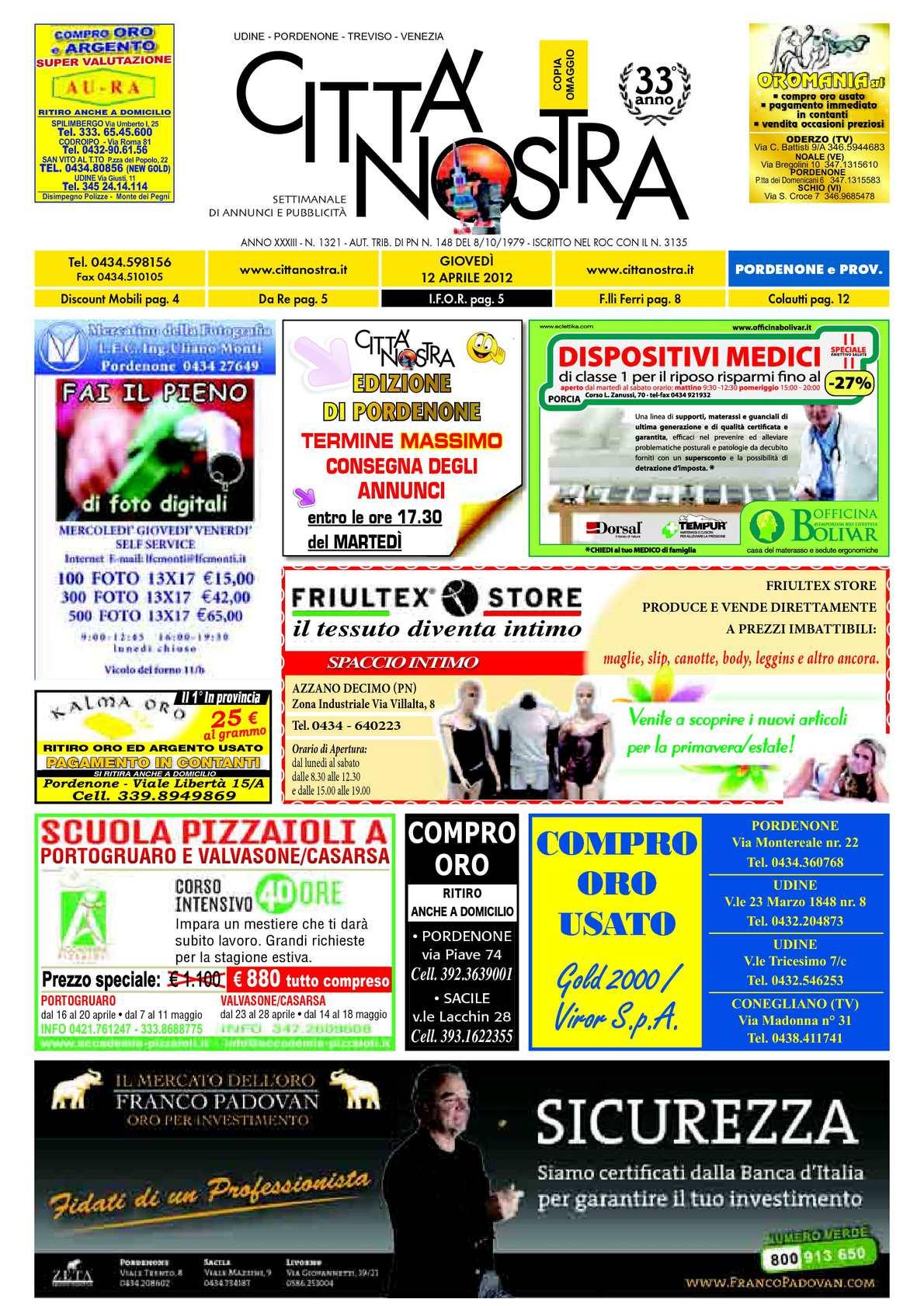 eccd793573 Calaméo - Città Nostra Pordenone del 12.04.2012 n. 1321