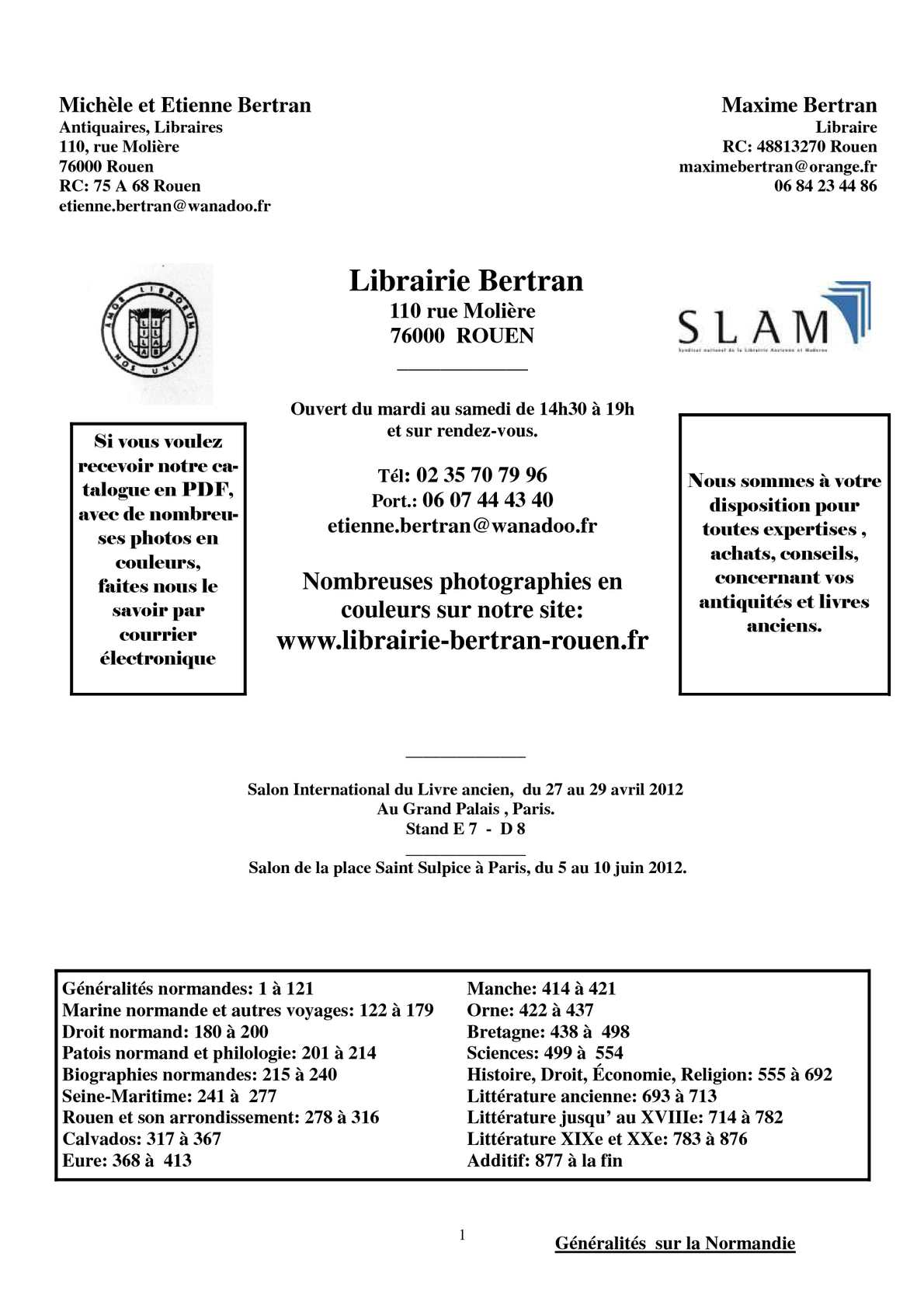 Calaméo - Catalogue de la librairie Bertran à Rouen 6d0cd1ee5ed6
