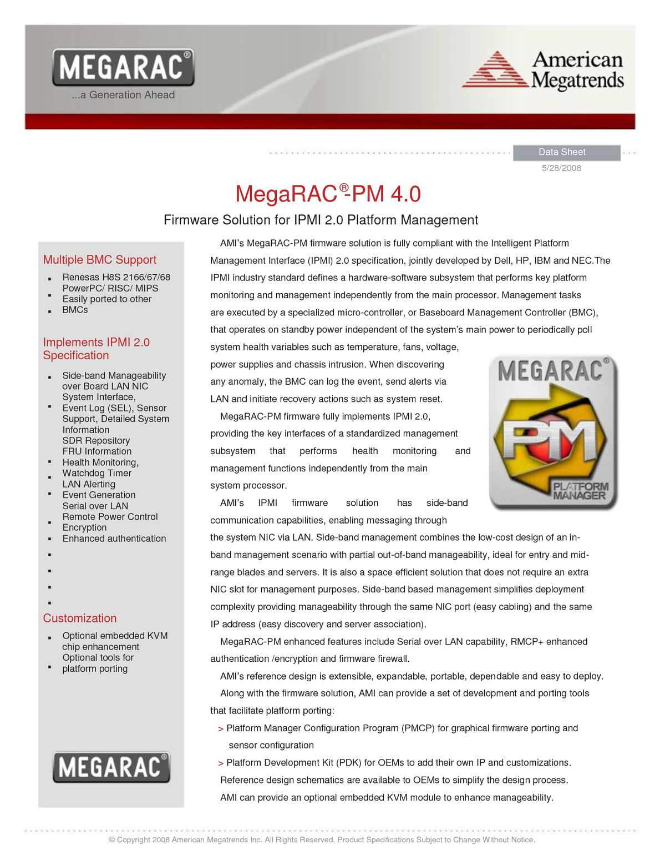 Calaméo - MegaRAC-PM firmware solution