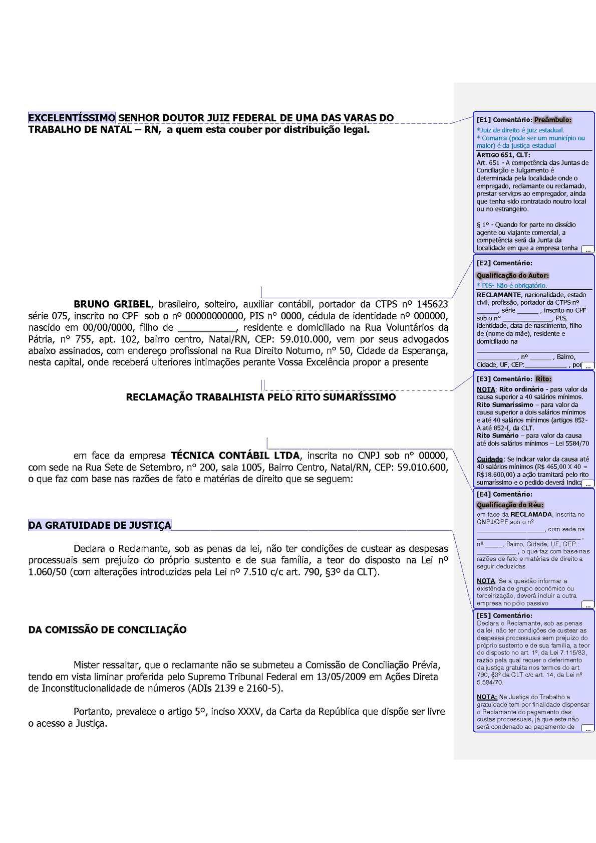 Calaméo - 0007 Petição Trabalhista - Modelo
