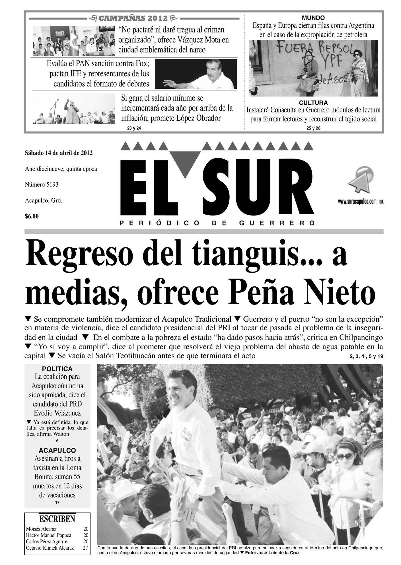 Calaméo El Sur 14 De Abril 2012 Sábado