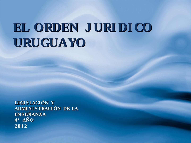 Calaméo Orden Jurídico Uruguayo