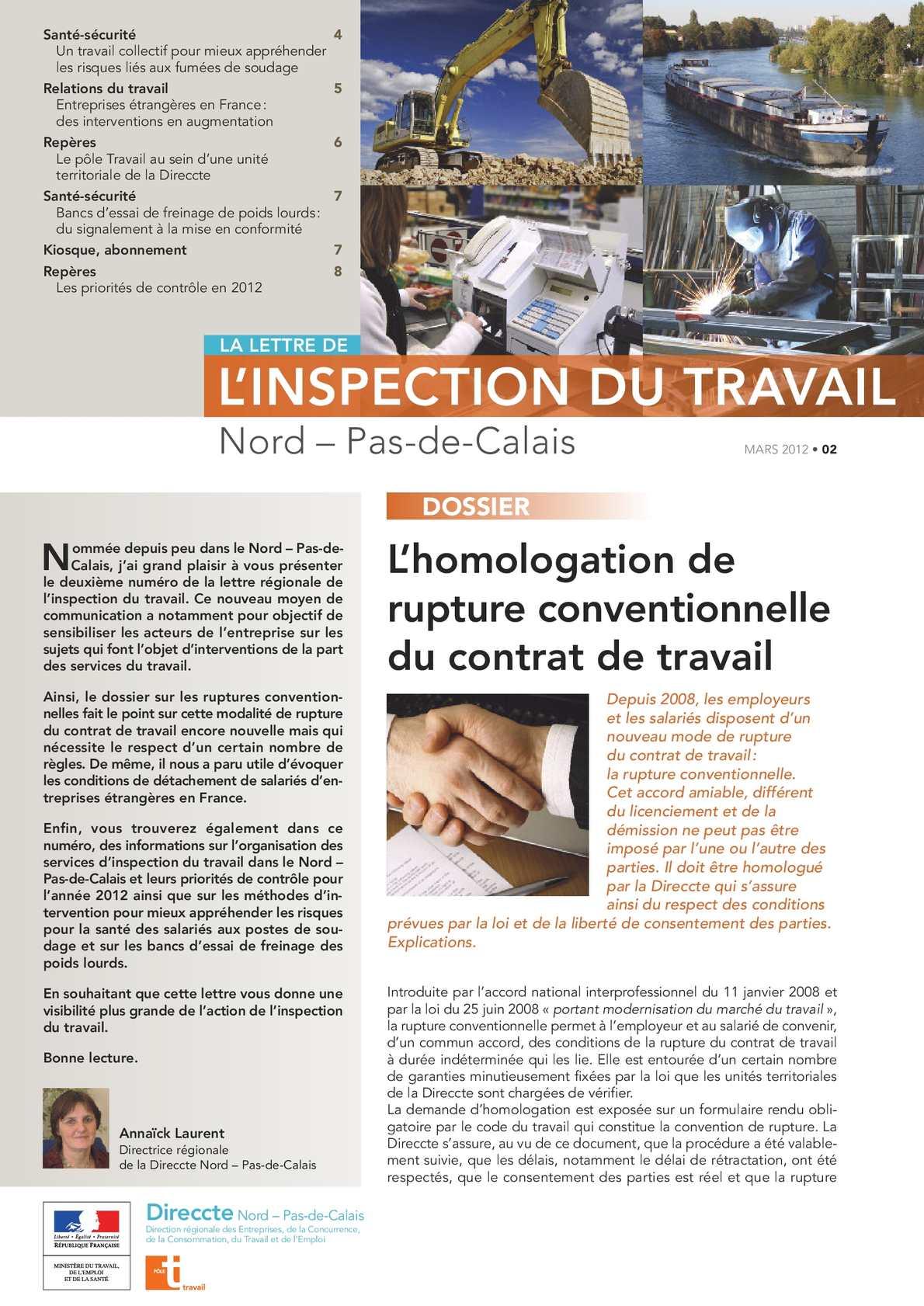 Calameo Lettre Regionale De L Inspection Du Travail N 2