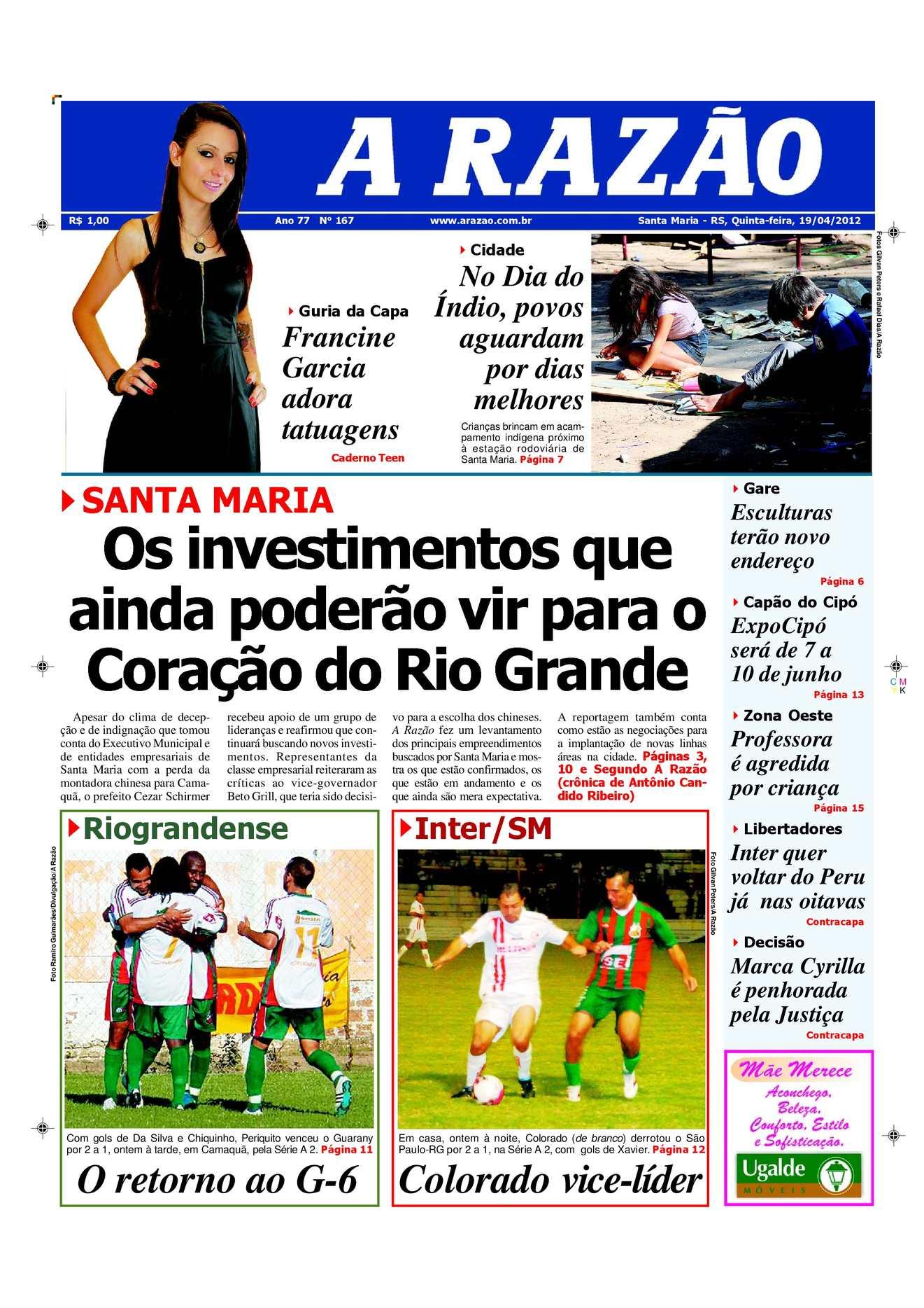 Calaméo - Jornal A Razão Santa Maria - 19042012 61d058713cafb