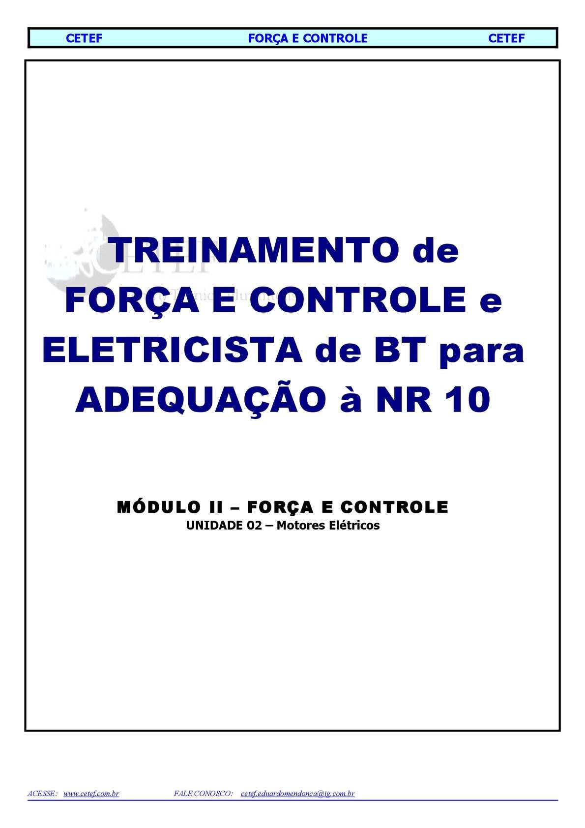 3e2039657e4 Calaméo - 2 MÓD II - UN II - Motores Elétricos