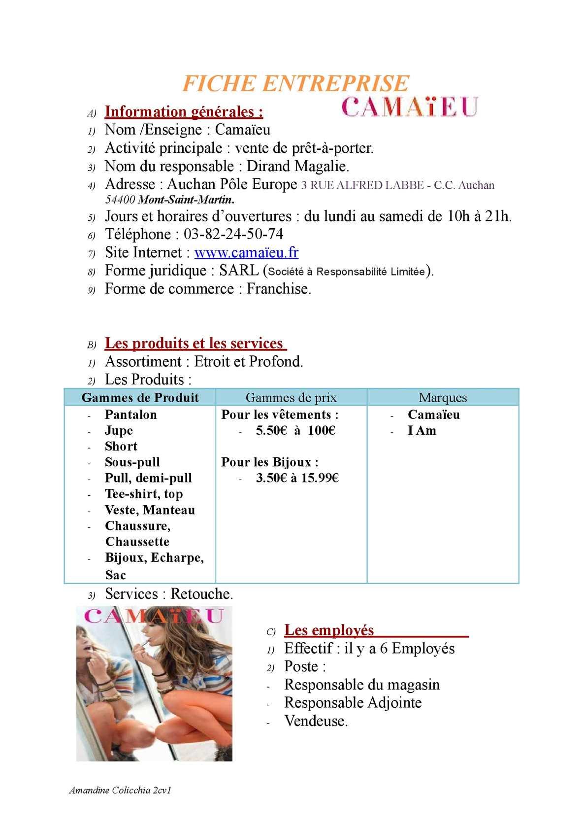 Calaméo - FICHE ENTREPRISE 2