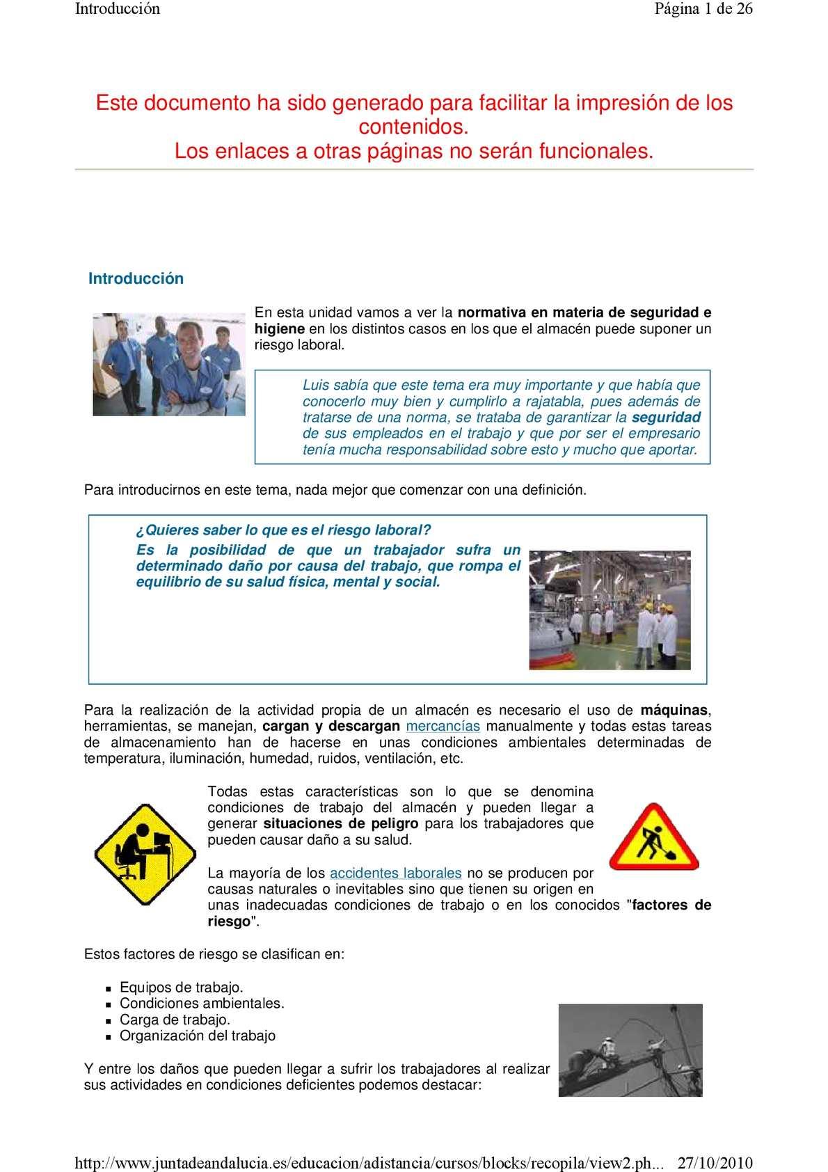 Calam 233 O Unidad 6 Seguridad E Higiene En Almacenes