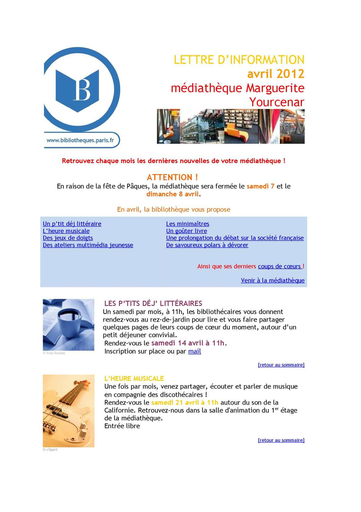 Calameo Infolettre D Avril 2012