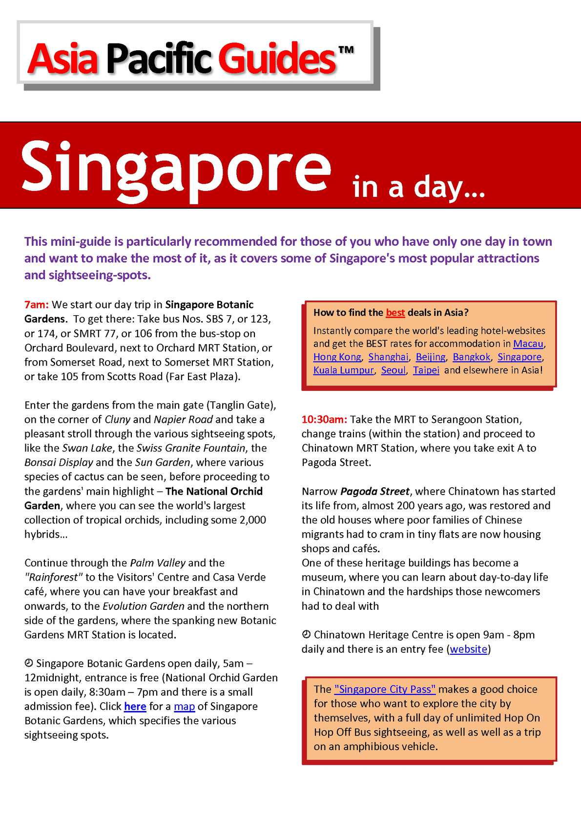 Calameo Singapore In A Day