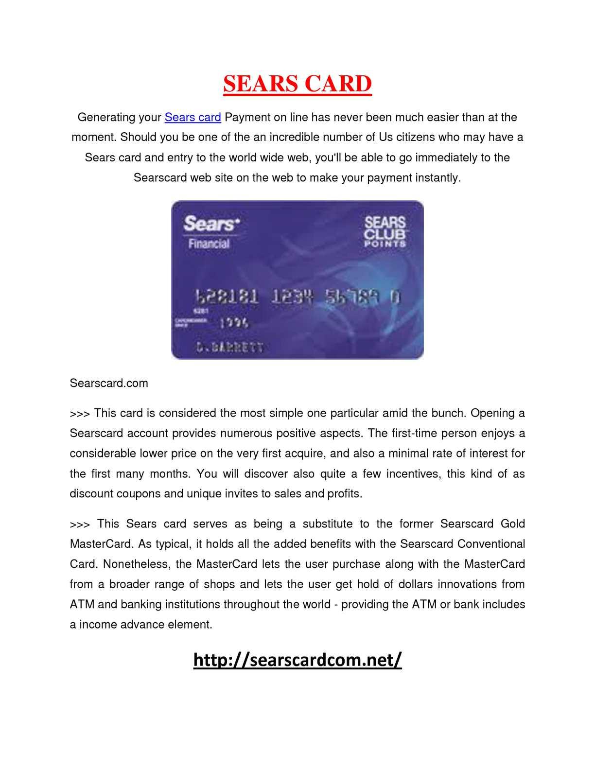 Calaméo - Sears card