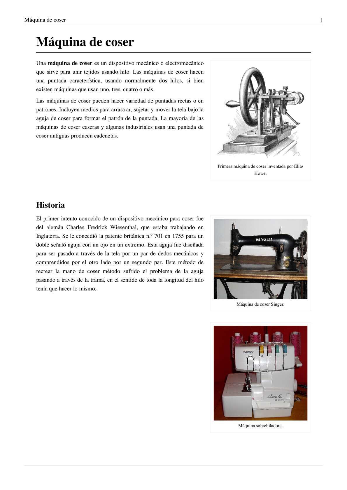 Calaméo - historia de la maquina de coser