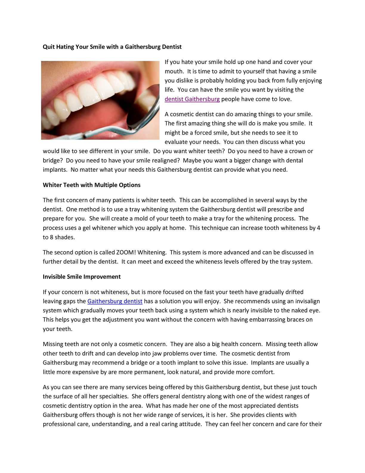 Calaméo - Quit Hating Your Smile with a Gaithersburg Dentist
