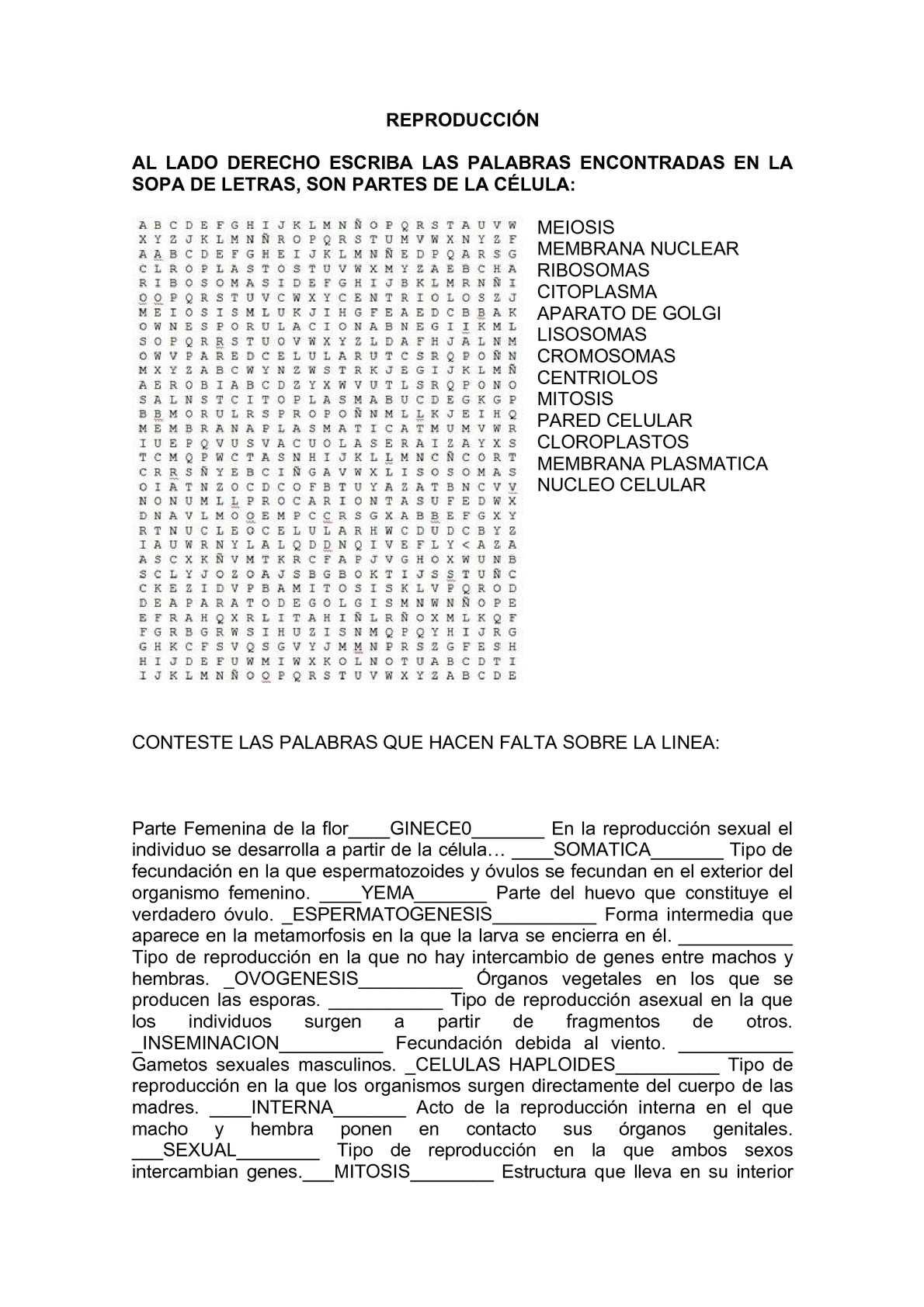 Calaméo - SOPA DE LETRAS Y PREGUNTAS REPRODUCCIÓN SÉPTIMO (1)