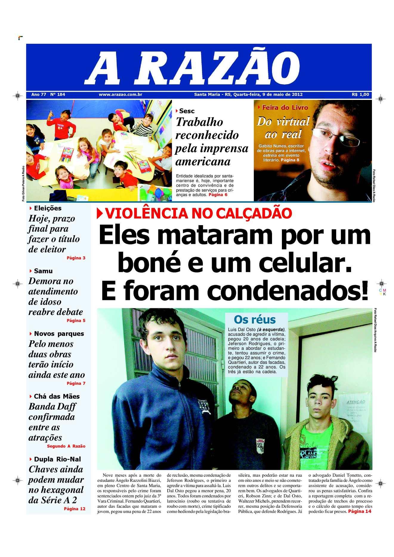 Calaméo - Jornal A Razão Santa Maria - 09052012 4318e60074778