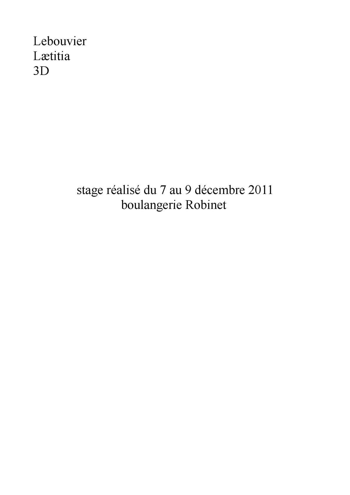 Calaméo Rapport De Stage 2 Laetitia