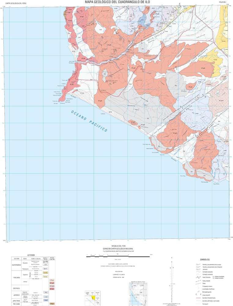 Calameo Mapa Geologico Del Cuadrangulo Ilo 36 T