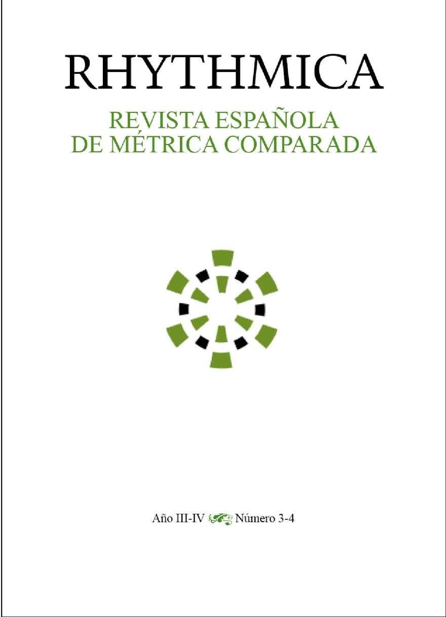 Calaméo Rhythmica N º 3 4 Revista Española De Métrica